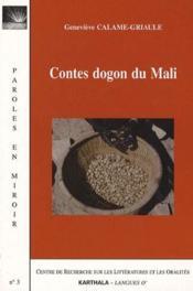 Contes dogon du mali - Couverture - Format classique