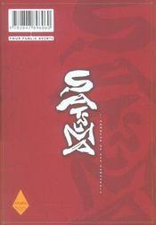 Satsuma, l'honneur des samourai t.1 - 4ème de couverture - Format classique