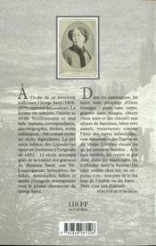 Legendes rustiques - 4ème de couverture - Format classique