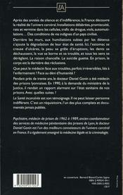 La Sante Incarceree - 4ème de couverture - Format classique