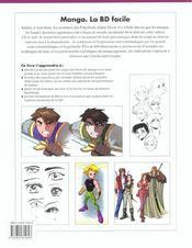 Manga. la bd facile - 4ème de couverture - Format classique