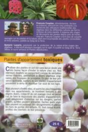 Plantes d'appartement toxiques - 4ème de couverture - Format classique