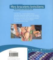 Mes bracelets brésiliens - 4ème de couverture - Format classique