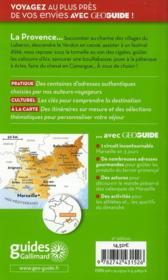Geoguide ; Provence - 4ème de couverture - Format classique