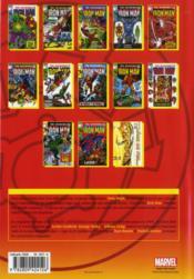 Iron man ; intégrale t.5 ; 1969 - 4ème de couverture - Format classique