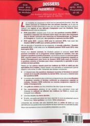 Dossiers Passerelle Ecn Cancerologie - 4ème de couverture - Format classique