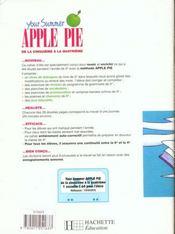 Your Summer Apple Pie 5e Et 4e - Anglais - Cahier De L'Eleve - Edition 1998 - 4ème de couverture - Format classique
