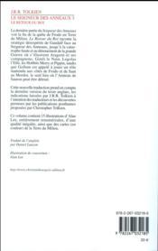 Le seigneur des anneaux T.3 ; le retour du roi - 4ème de couverture - Format classique