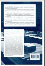 Vie d'un atelier - 4ème de couverture - Format classique