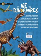 La vie des dinosaures ; les animaux les plus impressionnants - 4ème de couverture - Format classique