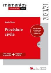 Procédure civile (édition 2020/2021) - Couverture - Format classique