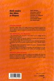 Dictionnaire Des Idees Politiques - 1ere Ed. - 4ème de couverture - Format classique