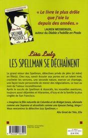 Les Spellman se déchainent - 4ème de couverture - Format classique