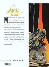 Attila mon amour t.3; le maître du danube - 4ème de couverture - Format classique