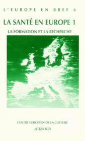 L'Europe En Bref T.4 ; La Formation Et La Recherche - Couverture - Format classique
