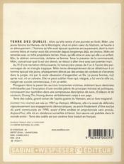 Terre des oublis - 4ème de couverture - Format classique