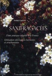 Saxifragacées. flore pratique adaptée à la france. utilisation des espèces horticoles et ornementales - Intérieur - Format classique