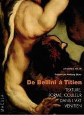 De Bellini à Titien - Couverture - Format classique