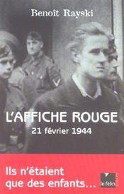 L affiche rouge 21 fevrier 1944 - Intérieur - Format classique
