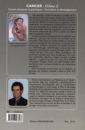 Cancer t.2 ; du diagnostic à l'annonce du cancer - 4ème de couverture - Format classique
