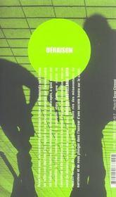 Deraison - 4ème de couverture - Format classique