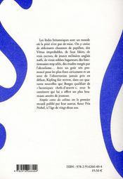 Simples contes des collines - 4ème de couverture - Format classique