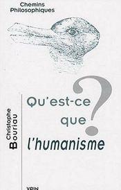 Qu'est-ce que l'humanisme? - Intérieur - Format classique