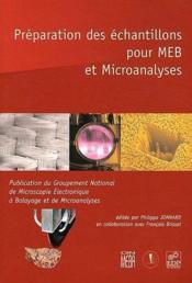 Préparation des échantillons pour MEB et microanalyses - Couverture - Format classique