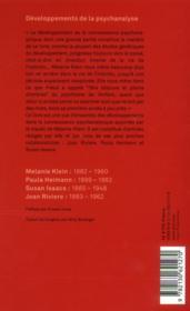 Le développements de la psychanalyse (4e édition) - Couverture - Format classique