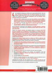Dossiers Passerelle Ecn Anesthesie Reanimation - 4ème de couverture - Format classique