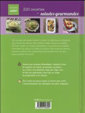 220 recettes de salades gourmandes - 4ème de couverture - Format classique