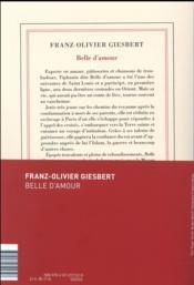 Belle d'amour - 4ème de couverture - Format classique