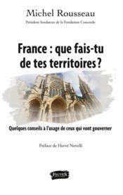 France : que fais-tu de tes territoires ? - quelques conseils a l'usage de ceux qui vont gouverner - Couverture - Format classique
