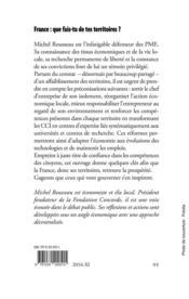 France : que fais-tu de tes territoires ? - quelques conseils a l'usage de ceux qui vont gouverner - 4ème de couverture - Format classique
