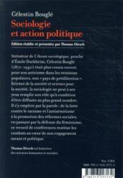 Sociologie et action politique - 4ème de couverture - Format classique