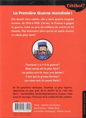 Cétékoi ? ; la Première Guerre mondiale ; 50 drôles de questions pour la découvrir ! - 4ème de couverture - Format classique