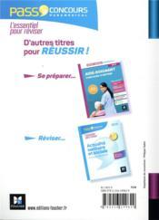 Pass'concours T.32 ; aide-soignant - AS - entrée en IFAS ; révision et entraînement (5e édition) - 4ème de couverture - Format classique