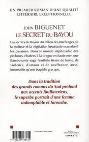 Le secret du Bayou - 4ème de couverture - Format classique