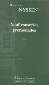Neuf causeries promenades - Intérieur - Format classique