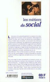 Metiers Du Social (Les) 2e Edition - 4ème de couverture - Format classique