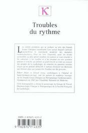 Troubles Du Rythme ; Les Enseignements Des Grands Essais Cliniques - 4ème de couverture - Format classique