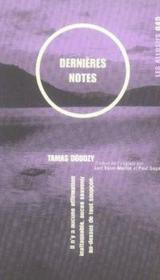 Dernières notes - Couverture - Format classique