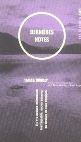 Dernières notes - Intérieur - Format classique