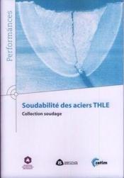 Soudabilité des aciers THLE - Couverture - Format classique