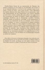 Le théâtre de Charles-Simon Favart ; histoire et inventaire des manuscrits - 4ème de couverture - Format classique