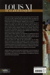 Louis XI ou le joueur inquiet - 4ème de couverture - Format classique