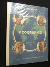 Géographie, classe de 6e - Couverture - Format classique