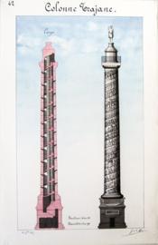 Colonne Trajane [ Belle aquarelle originale ] - Couverture - Format classique