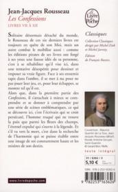 Les confessions t.2 (édition 2012) - 4ème de couverture - Format classique