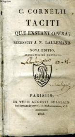 C. Cornelli Taciti Quae Exstant Opera. - Couverture - Format classique